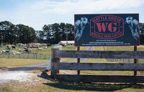 Wattle Grove Speckle Park Front Gate Oberon NSW Australia